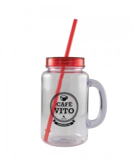 Mason Jar - Red - 500ml