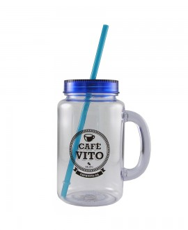 Mason Jar - Blue - 500ml