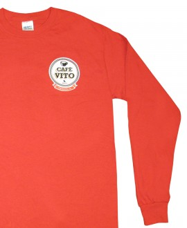 T-Shirt - long sleeves - red - Large