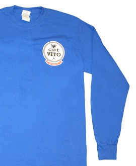 T-Shirt - long sleeves - blue- Large