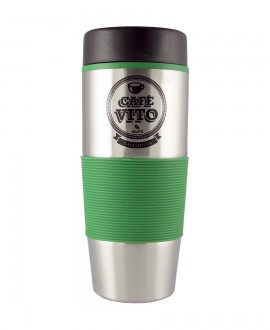 Stainless steel/green coffee cup - 500ml