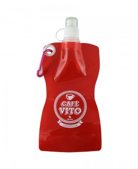 Red plastic water bag - 500ml