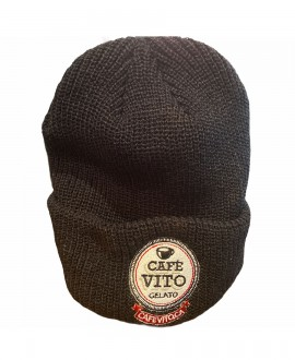 Ribbed Cuff Beanie - Black