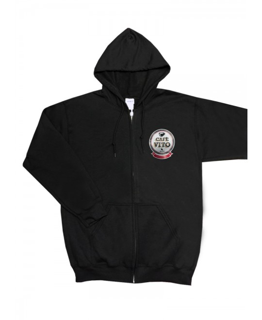 Hoodie - long sleeves - black - Large