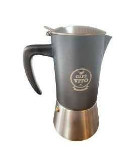 Stainless Steel Stovetop Espresso Maker - 6 Cup